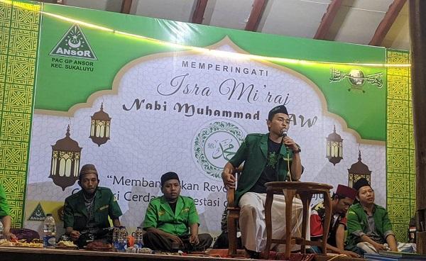 Rawat Tradisi, GP Ansor Sukaluyu Cianjur Peringati Isra' Mi'raj