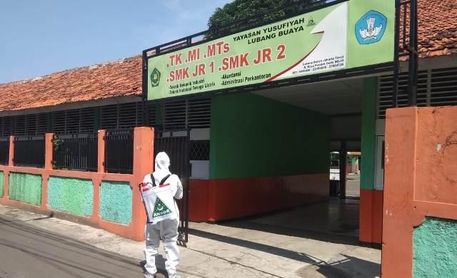 Antisipasi Penyebaran Virus Corona, GP Ansor Jaktim Kembali Lakukan Penyemprotan Desinfektan