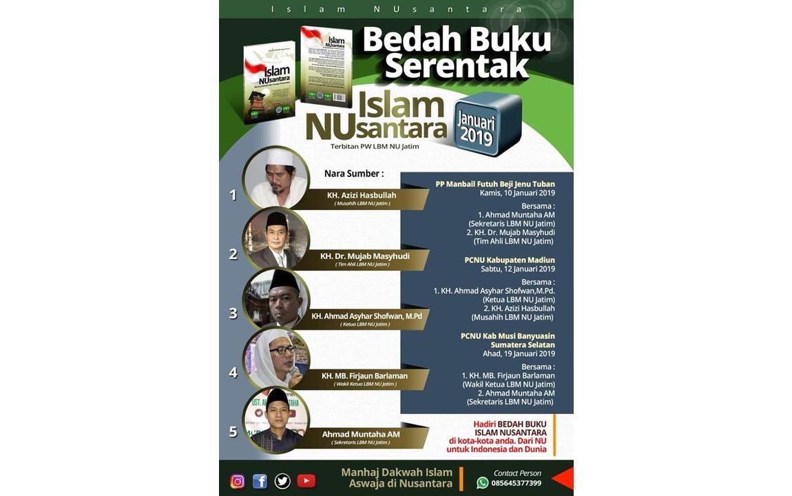 Roadshow Bedah Buku Islam Nusantara Januari 2019