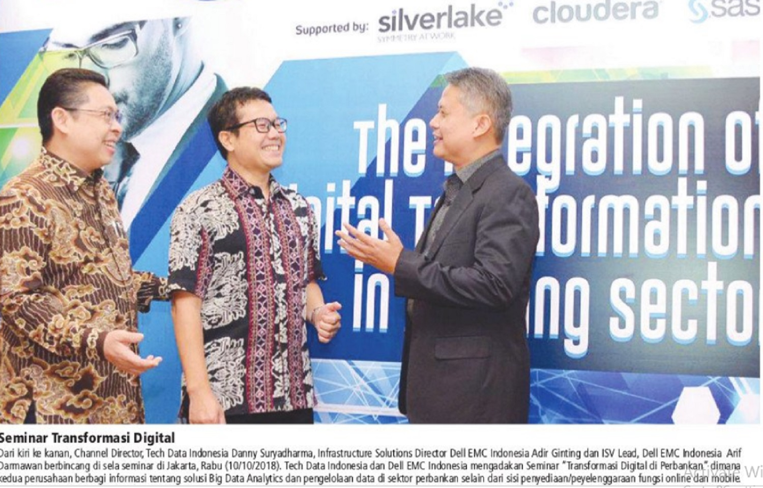 Tech Data dan Dell EMC Adakan Seminar Transformasi Digital di Perbankan