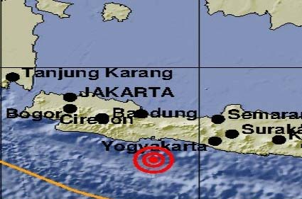 Gempa 5,7 SR Mengguncang Cilacap, Terasa Sampai Bandung