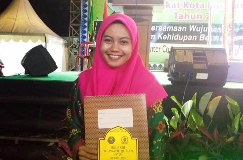 Membanggakan, Kader Kopri PMII Pontianak Juarai Seleksi Tilawah Al-Qur'an