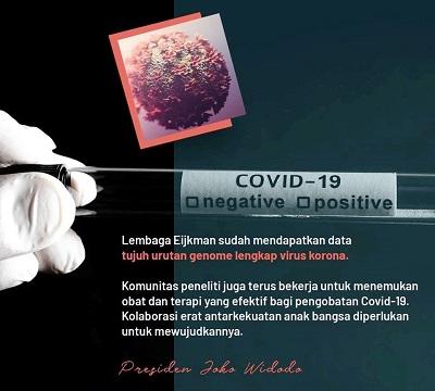Jokowi Apresiasi Eijkman Atas Penemuan Data Pengembangan Vaksin Covid-19