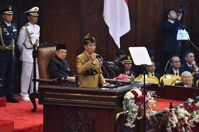 Presiden Jokowi Bicara Indonesia Maju dalam Pidato Kenegaraan