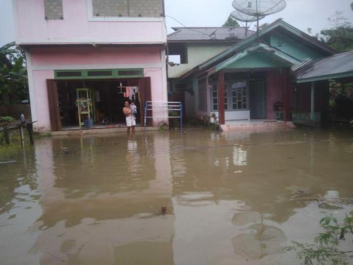Rumah Warga Desa Nanga Taman Terendam Banjir