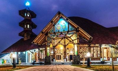 Masjid Saka Bu'ana Baru Diresmikan dengan Desain Bambu yang Indah