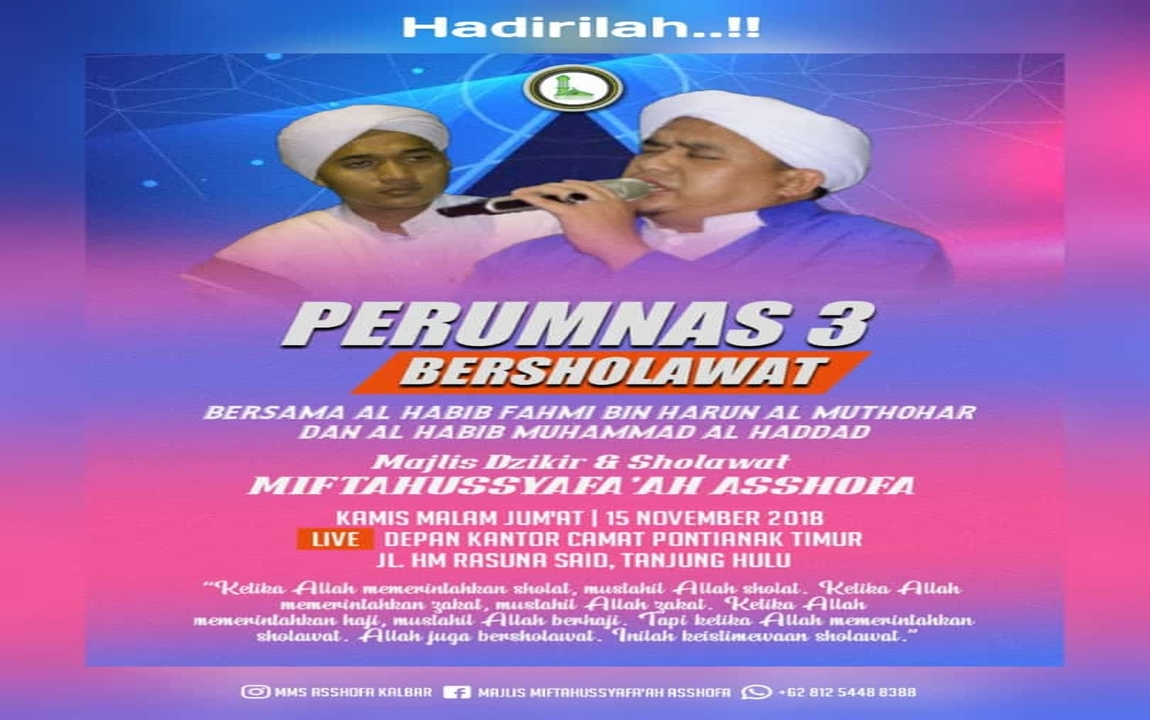 Perumnas 3 Bersholawat bersama Habib Fahmi al-Muthahar