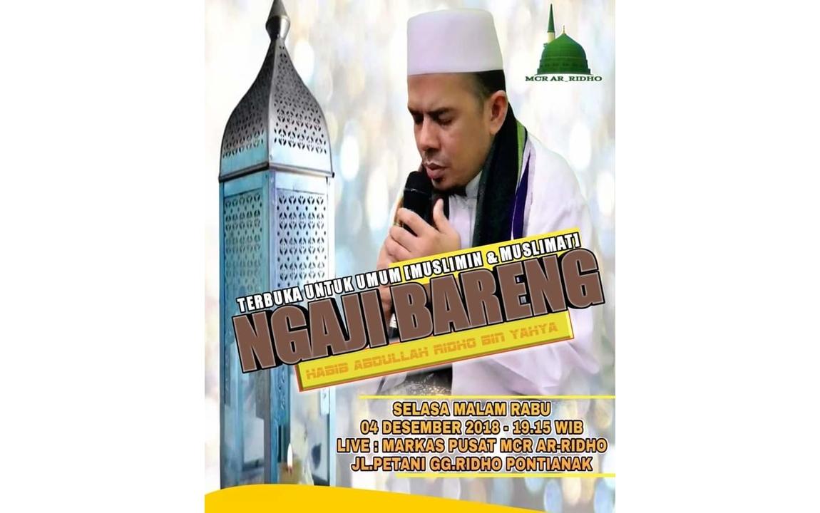 Ngaji Bareng bersama Habib Abdullah Ridho Bin Yahya