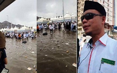 Hujan Deras Guyur Mina, Jamaah Haji Indonesia Aman