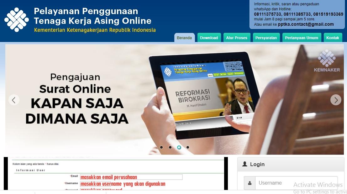 Kini Izin Penggunaan TKA Bisa Melalui Integrasi Online Lintas Kementerian